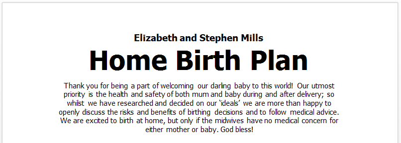Birth Plan | How To Write A Birth Plan You Ll Actually Use